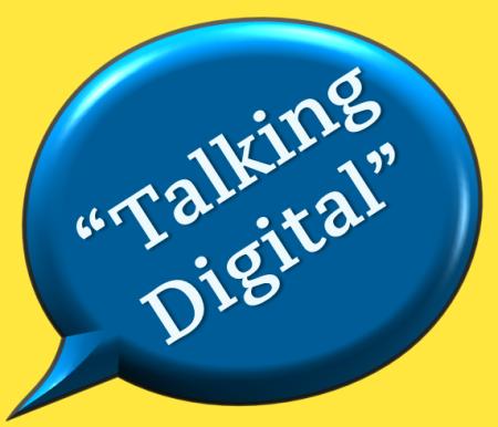 talking digital logo