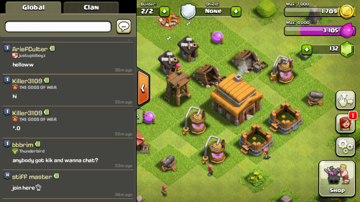 clash clans more chat