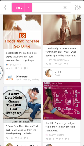 pinterest sexy search